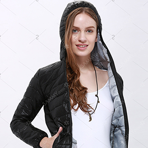 Stylish Hooded Long Sleeve Zippered