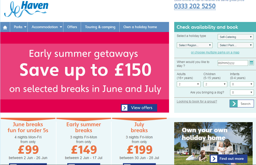 61 off haven holidays coupon discount code promo code
