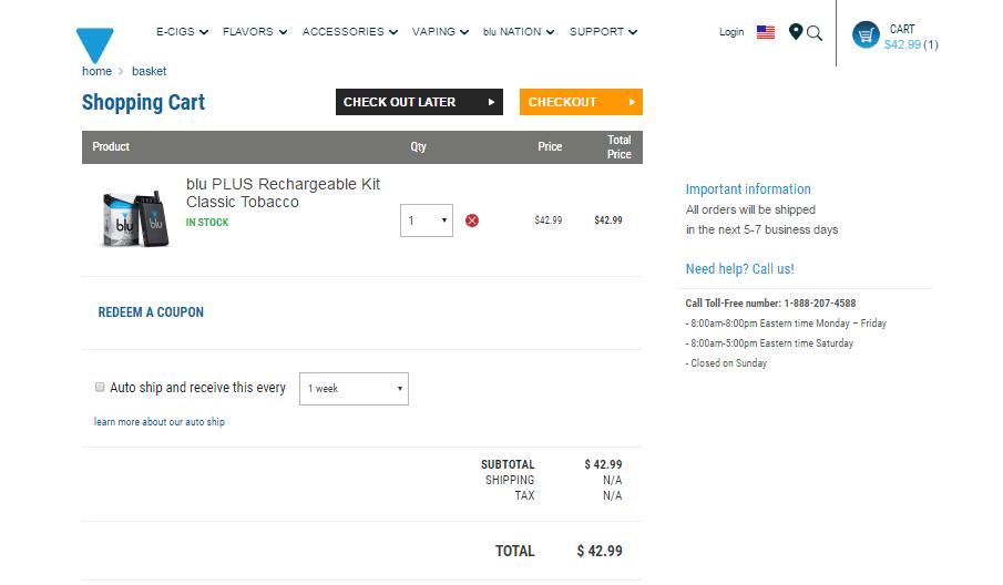 Blu Cigs Discount Codes